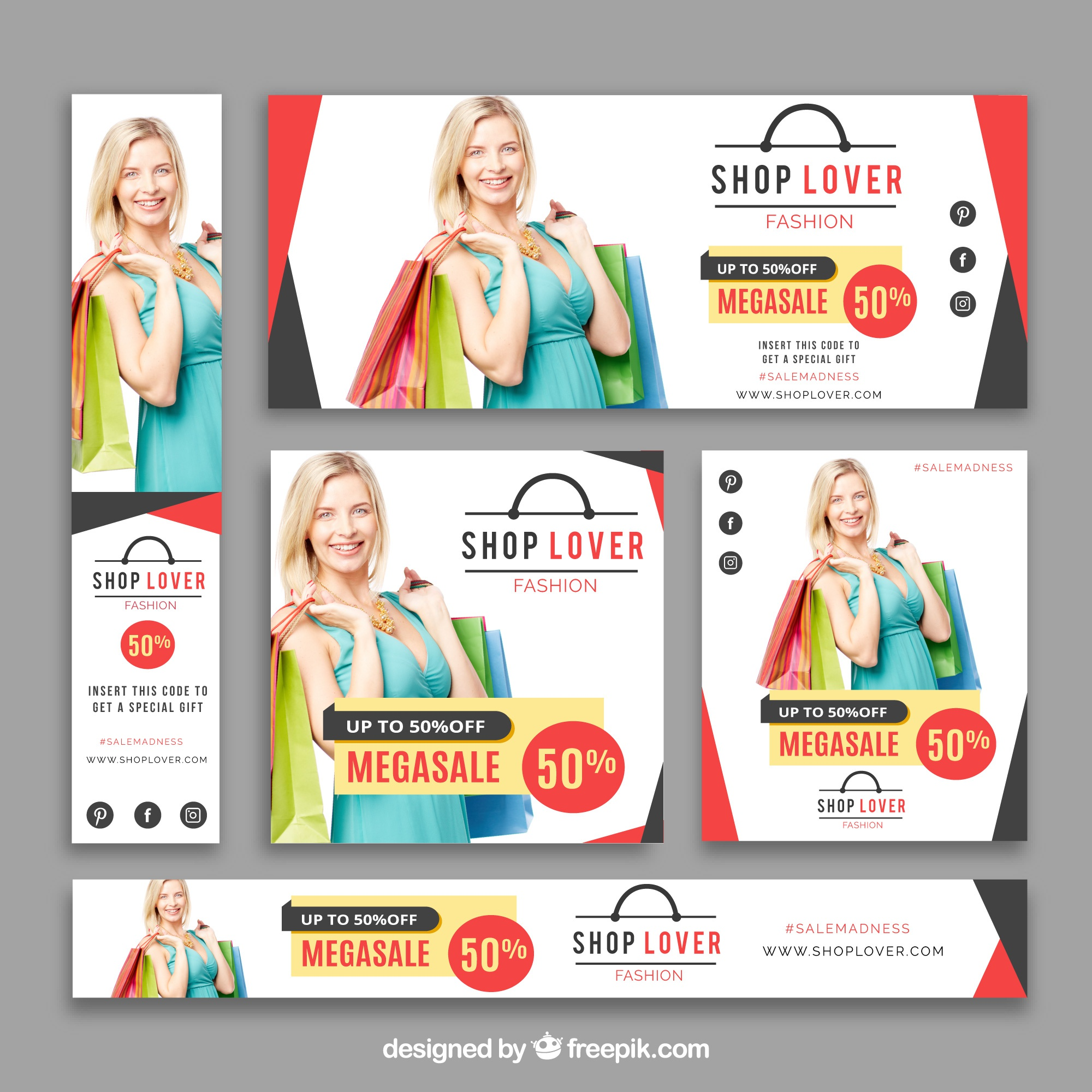 Banner of sale clothes collection