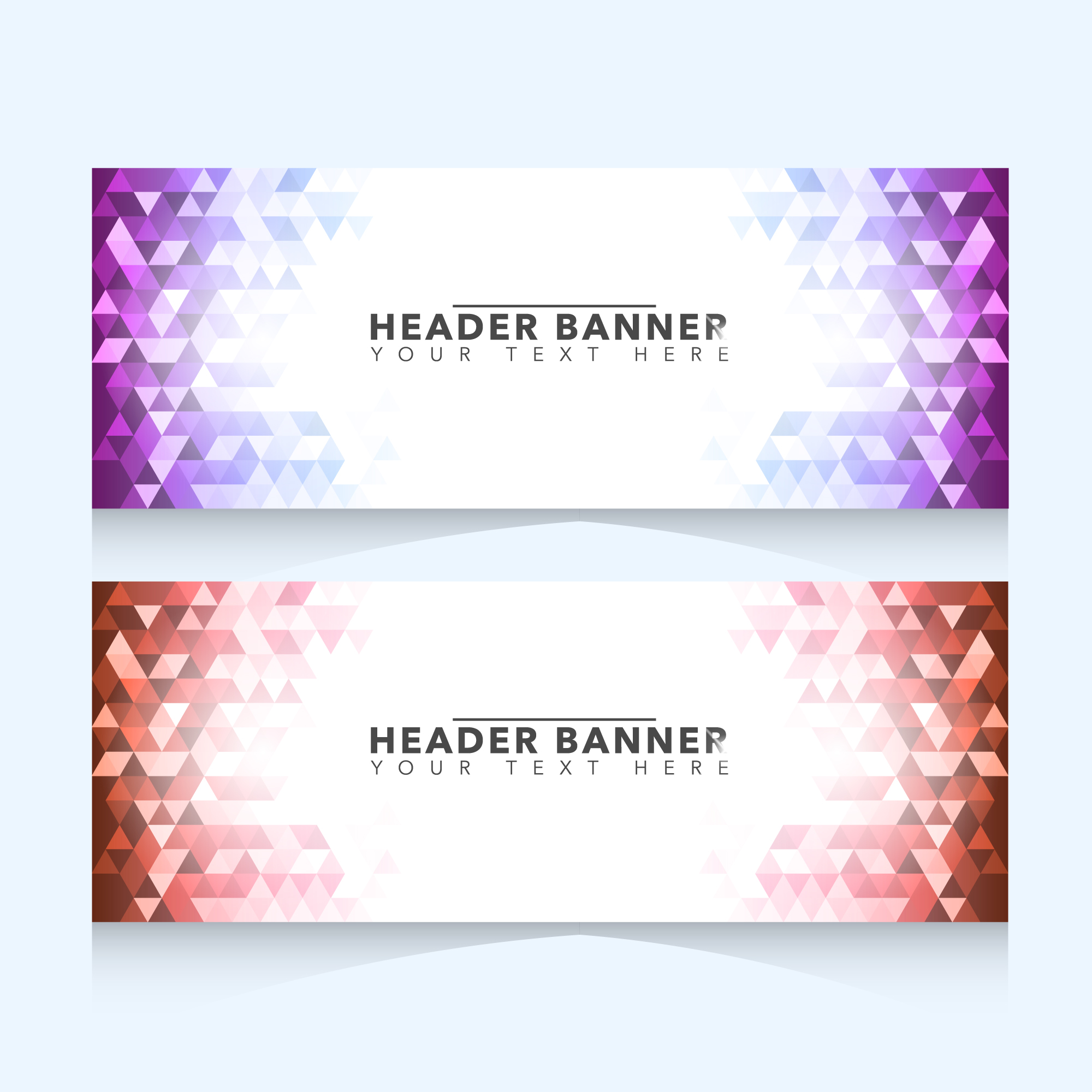 Banner with geometric design