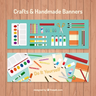 Banners about artistic crafts