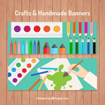 Banners for artistic crafts