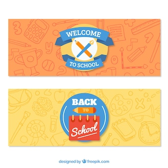 Banners for back to school