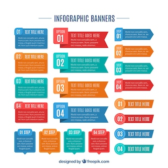 Banners for infographic
