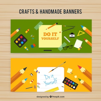 Banners of craft items