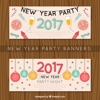 Banners of happy new year party