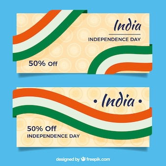 Banners of indian independence day's sales