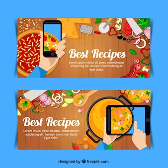 Banners of tasty recipes