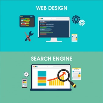 Banners of web design and search engine