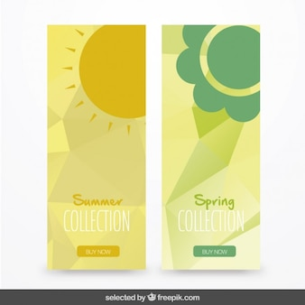 Banners pack of summer and spring