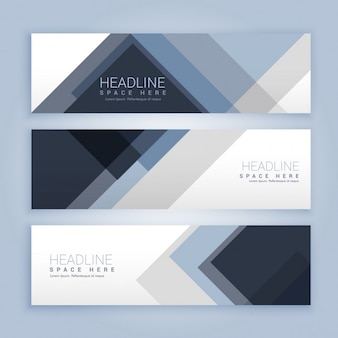 Banners set with abstract shapes