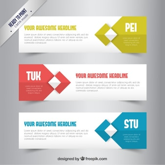 Banners template with geometric elements