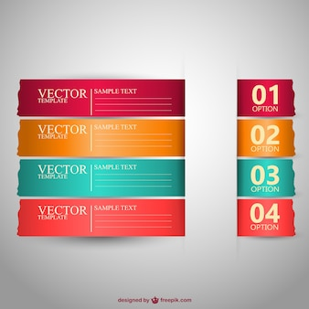Banners templates in different colors