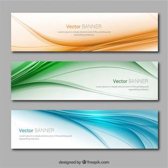 Баннеры с цветными волнами