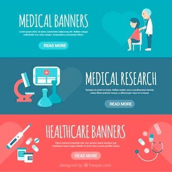 Banners with medical elements