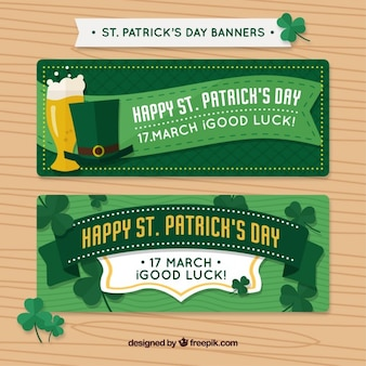 Banners with Saint Patrick elements