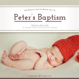 Baptism celebration invitation