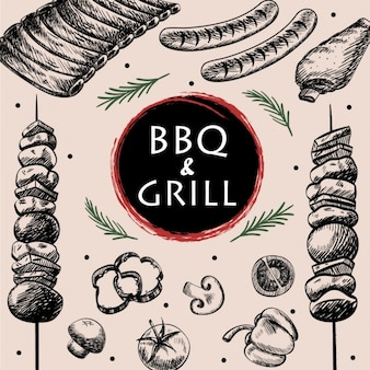Barbecue background design