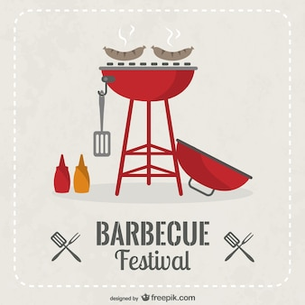 Barbecue festival invitation vector