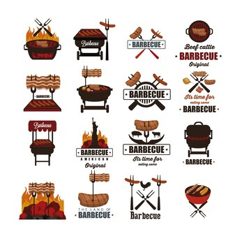 Barbecue label collection