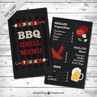 Barbecue menu template