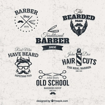 Barber shop badges