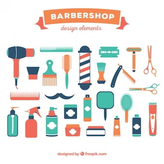 Barber shop element collection
