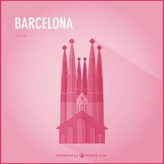 Barcelona landmark vector