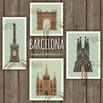 Barcelona stamps pack