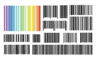 Barcodes graphic design vector set