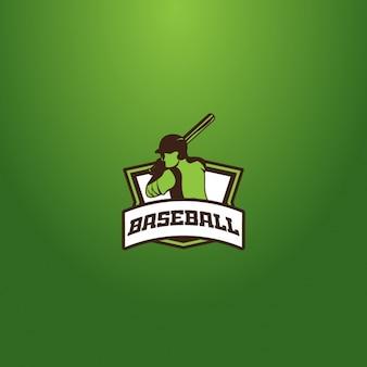 Baseball logo on a green background