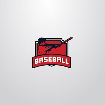 Baseball logo on a white background