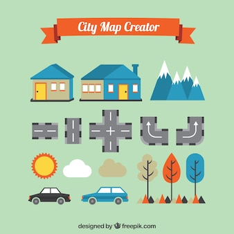 Basic elements to create a nice city map