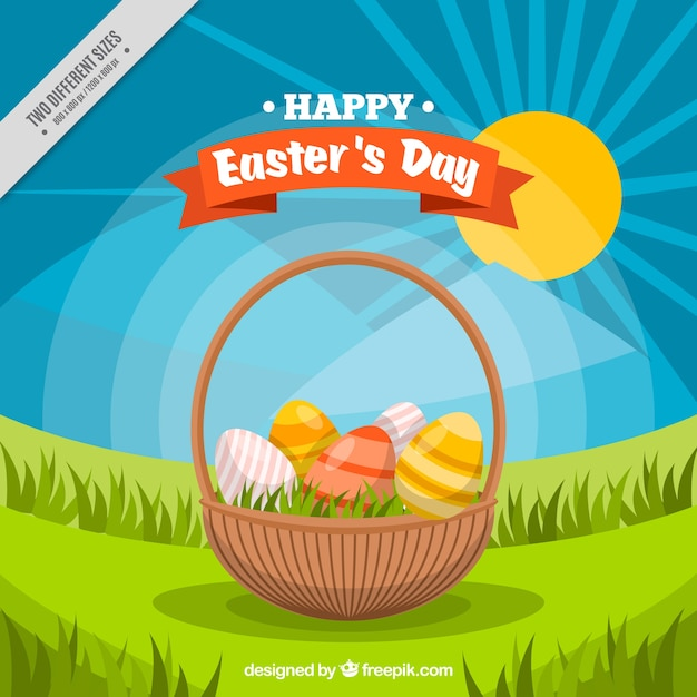 Easter egg basket Royalty Free Vector Image - VectorStock