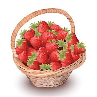 Basket of berries background