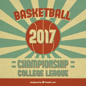 Basketball 2017 retro background