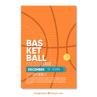 Basketball abstract brochure