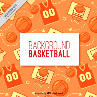 Basketball background in flat design