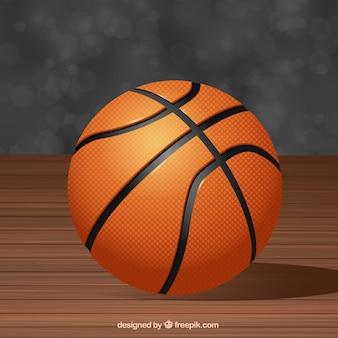 現実的なスタイルでバスケットボールの背景