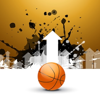 Basketball background with arrow