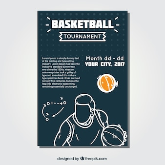 Basketball booklet with player sketch