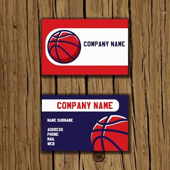 Basketball business card design