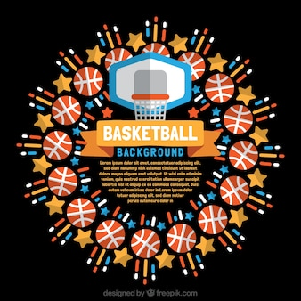 Basketball element background