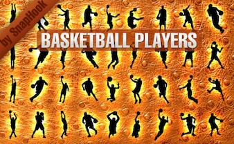 Basketball Players Silhouettes