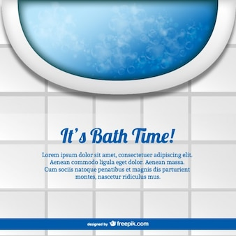 Bath time template vector
