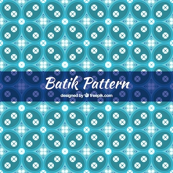 Batik background of geometric shapes