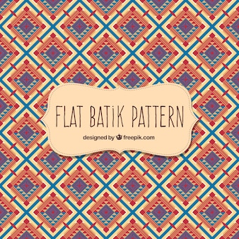 Batik pattern in flat design