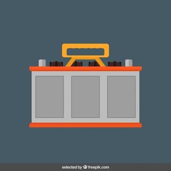 Battery in flat design