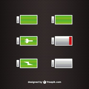 Battery power level icons