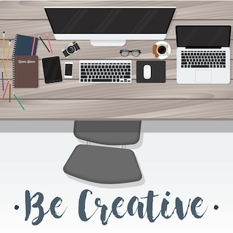 創造的な背景を持つ