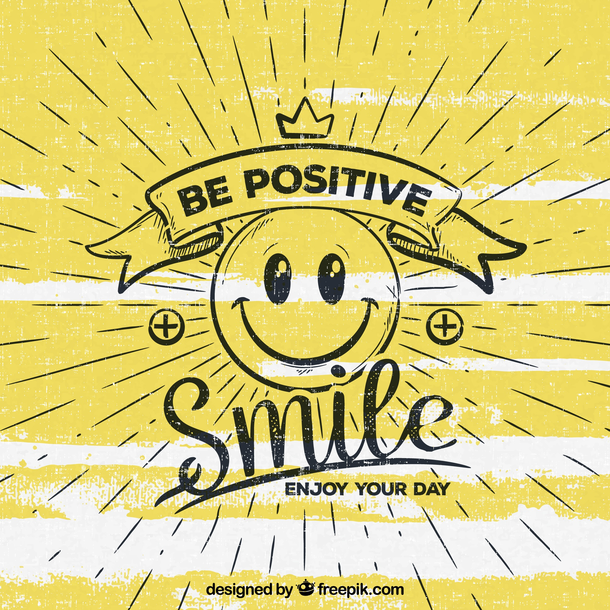 Be positive background