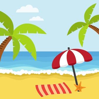 Beach background design